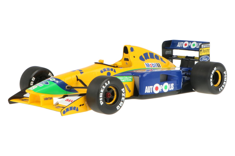 Benetton B191 - Modelauto schaal 1:18