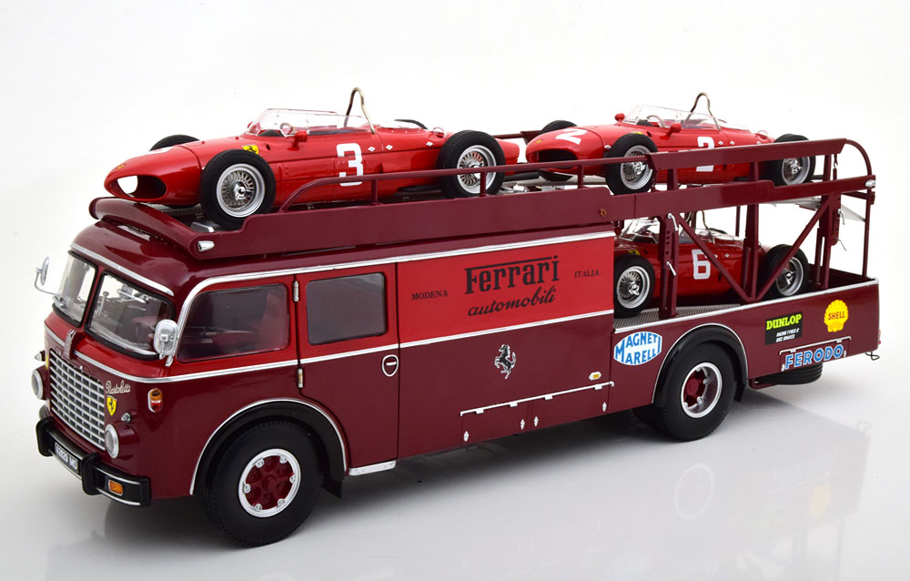 Fiat 642 RN2 Bartoletti Ferrari Racetransporter - Modelauto schaal 1:18