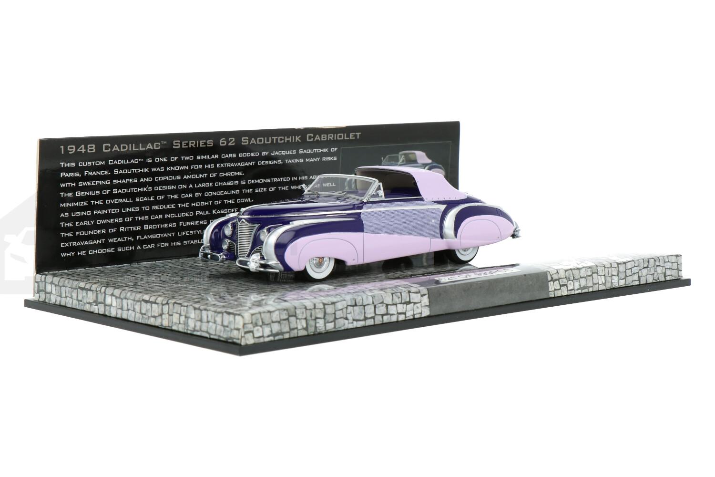 Cadillac Series 62 Saoutchik Cabriolet - Modelauto schaal 1:43