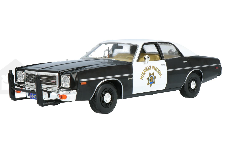 Dodge Coronet California Highway Patrol - Modelauto schaal 1:18