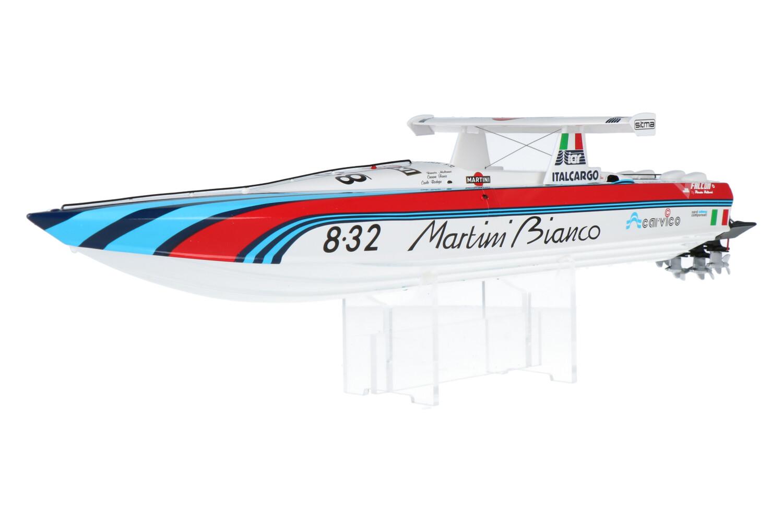 Lancia Martini Bianco Off Shore Power Boat - Modelauto schaal 1:43