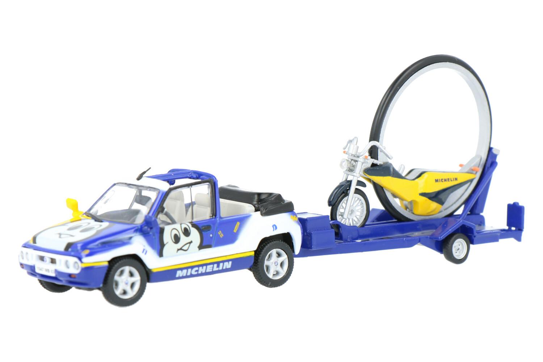 Mega Loisir et moto roue Michelin - Modelauto schaal 1:43