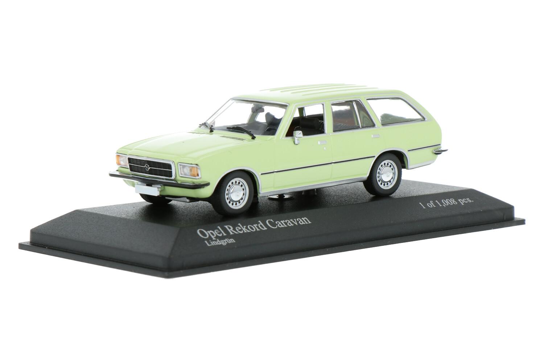 Opel Rekord D Caravan - Modelauto schaal 1:43
