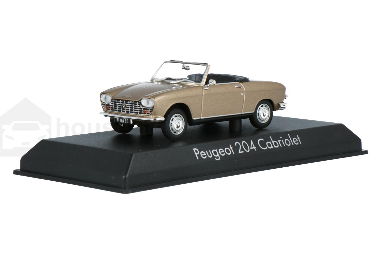 Peugeot 204 cabriolet - Modelauto schaal 1:43